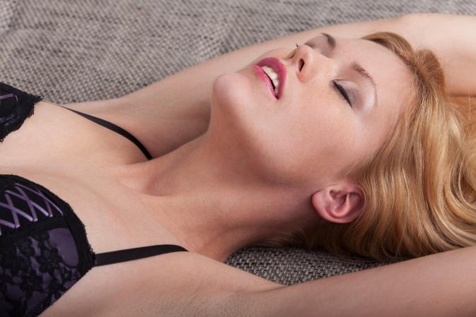 passionate woman in underwear